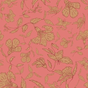 Tropical Coral Floral