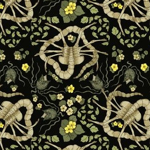 Florid-Facehugger Black (small scale)