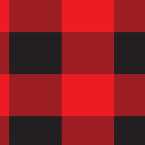 Black and Red Buffalo Plaid Pattern