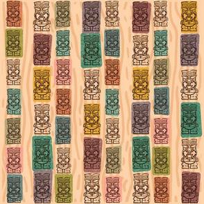 Mid Century Modern Tiki Parade Pattern