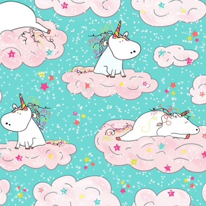The Lazy Unicorn in Sparkle