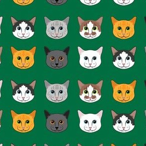 All the Cats- Dark Green
