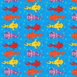 tropical colored tribal hammerheads