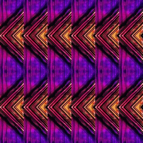 Yellow and purple triangles chevron pattern