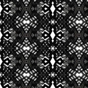 Black lace geometric pattern