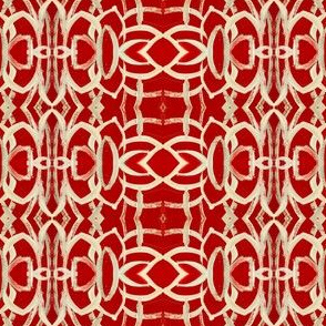 Red and White Decorative