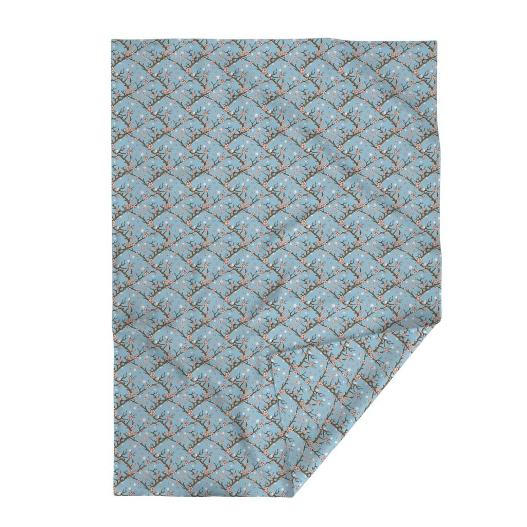 Lakenvelder Throw Blanket featuring Cherry Blossom Trellis by gypsea_art_designs
