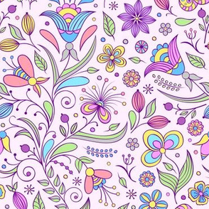 Fantasy Violet Foliage Flowers