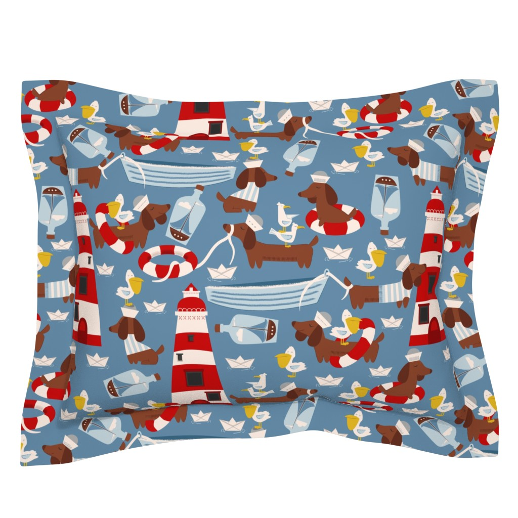 Sebright Pillow Sham featuring The Lifeguard by oliveandruby