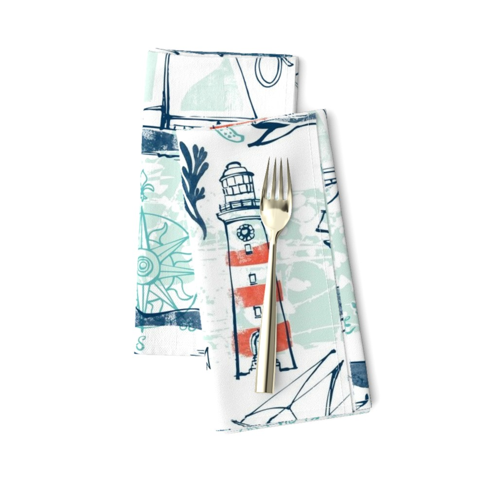Amarela Dinner Napkins featuring Nautical Pacific by ohn_mar_win