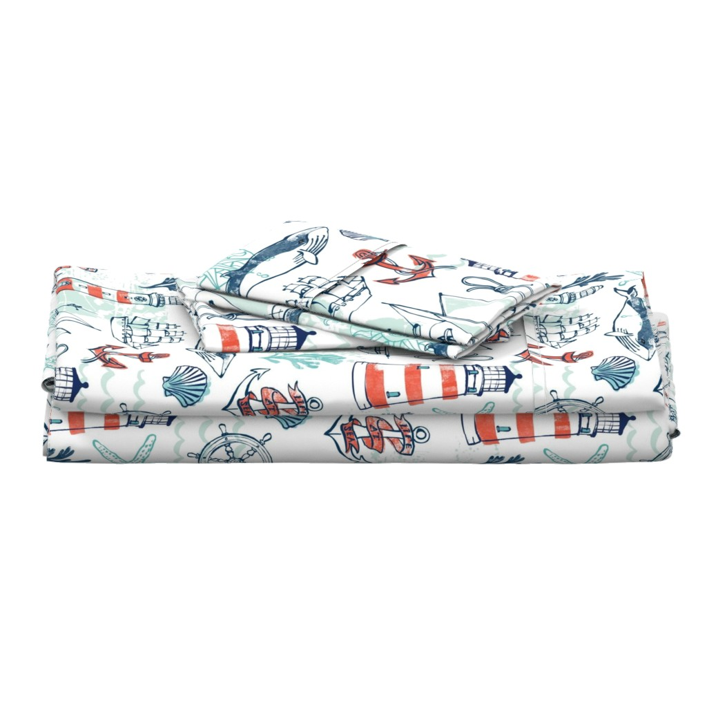 Langshan Full Bed Set featuring Nautical Pacific by ohn_mar_win