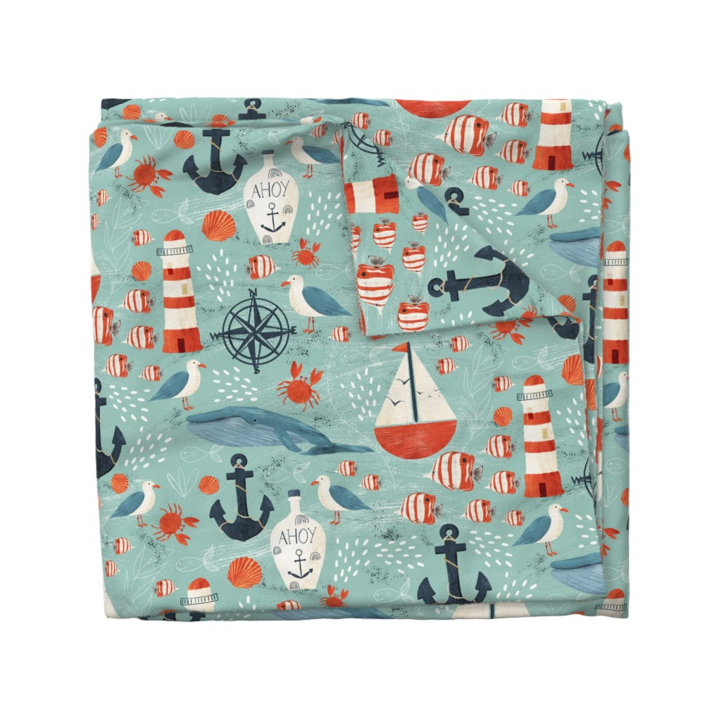 Wyandotte Duvet Cover featuring Ahoy by melarmstrong