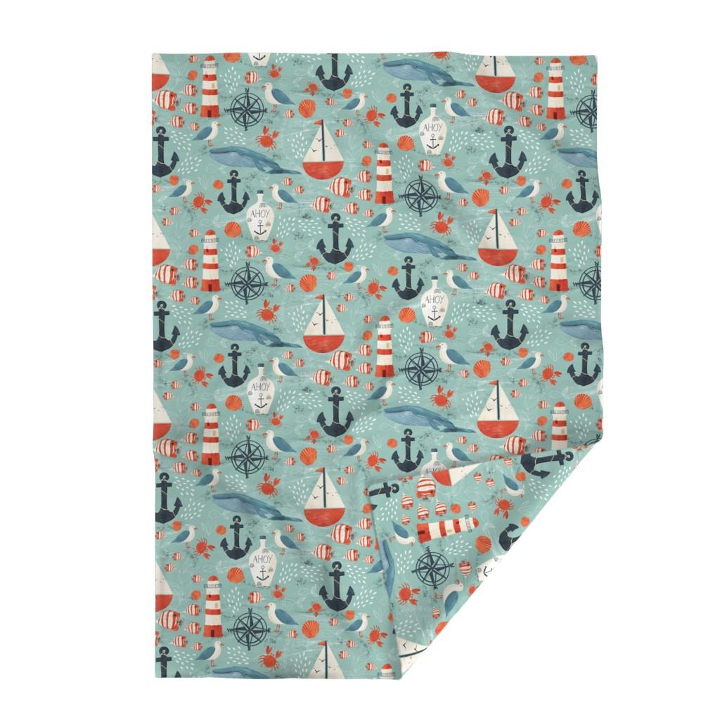 Lakenvelder Throw Blanket featuring Ahoy by melarmstrong