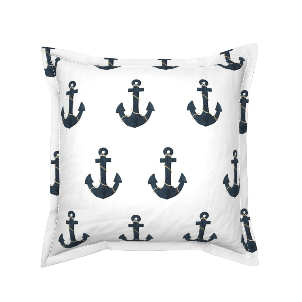 Serama Throw Pillow featuring Anchors by melarmstrong