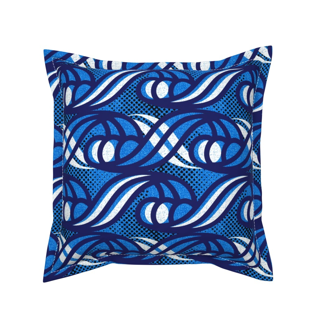 Serama Throw Pillow featuring Tribal waves by ottomanbrim