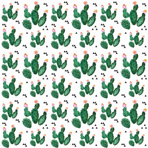 baby girl cactus spoonflower repeat
