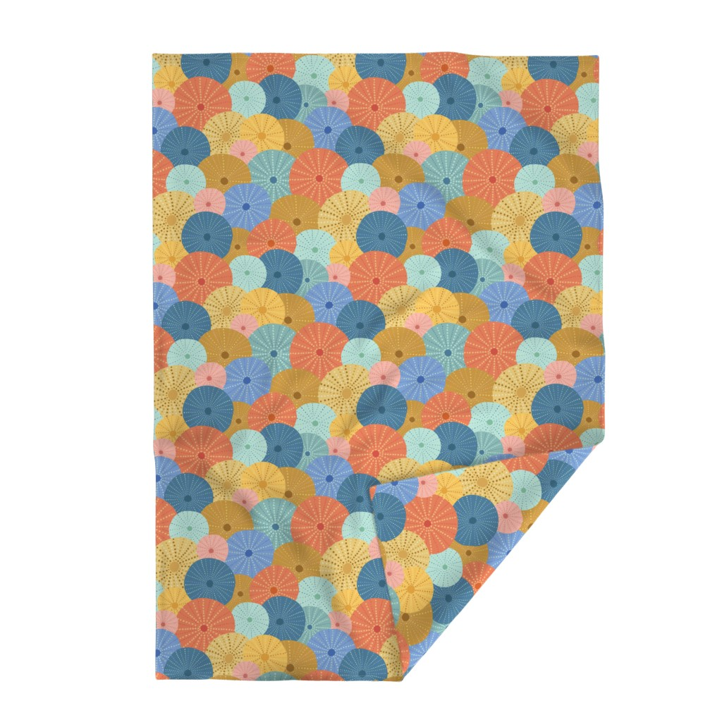 Lakenvelder Throw Blanket featuring Colorful Sea Urchins by latheandquill