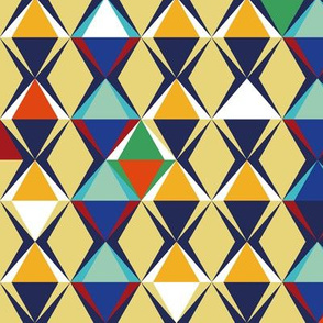 pyramids geometric pattern by rysunki_malunki -  bigger