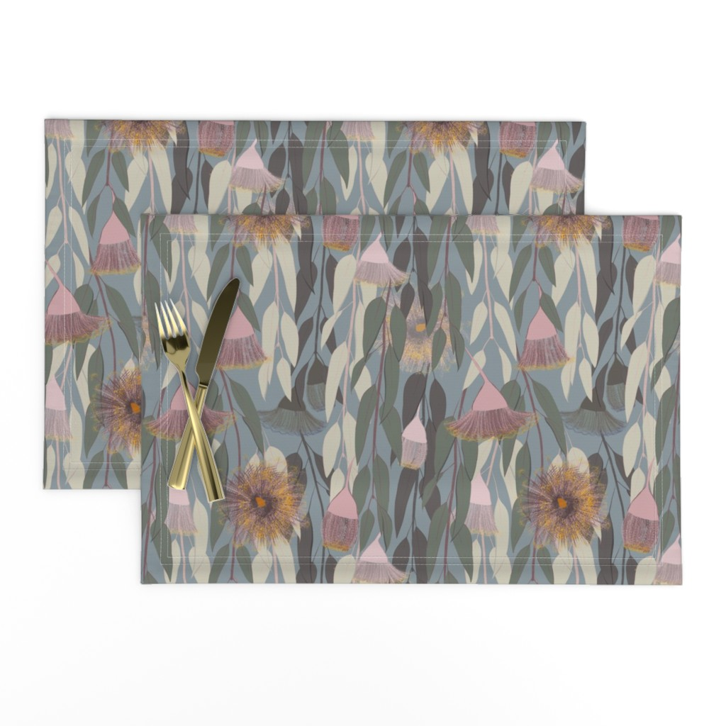 Lamona Cloth Placemats featuring Flowering eucalyptus, australian flora by friedlosundstreitsuechtig