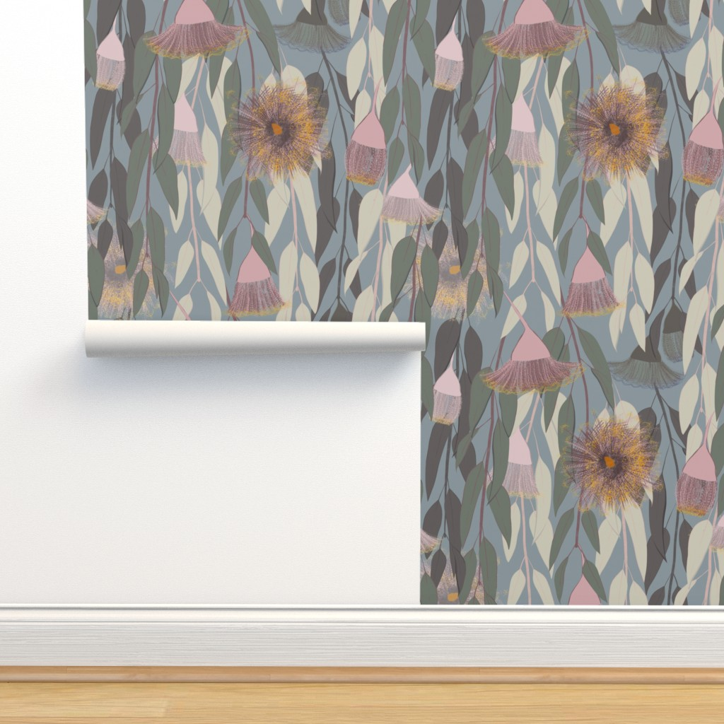 Isobar Durable Wallpaper featuring Flowering eucalyptus, australian flora by friedlosundstreitsuechtig
