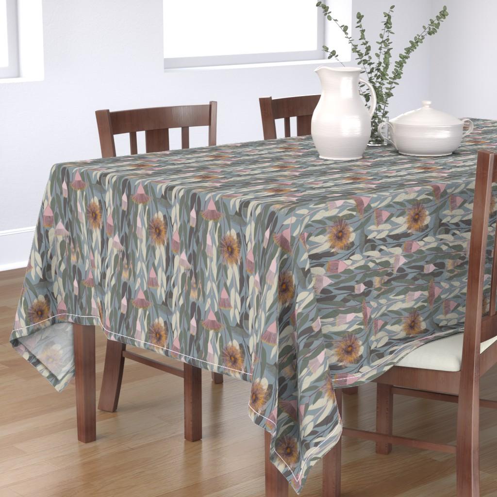 Bantam Rectangular Tablecloth featuring Flowering eucalyptus, australian flora by friedlosundstreitsuechtig