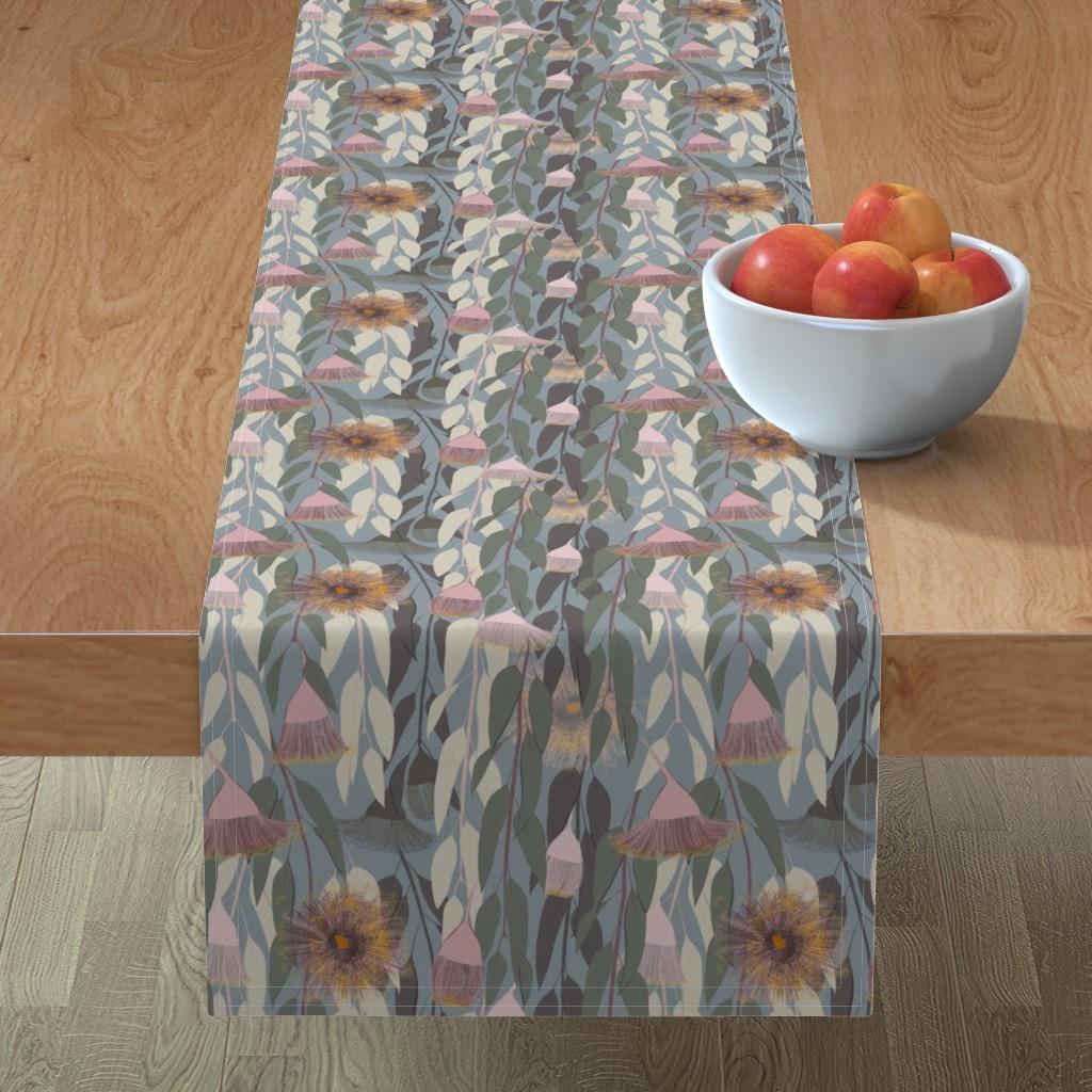 Minorca Table Runner featuring Flowering eucalyptus, australian flora by friedlosundstreitsuechtig