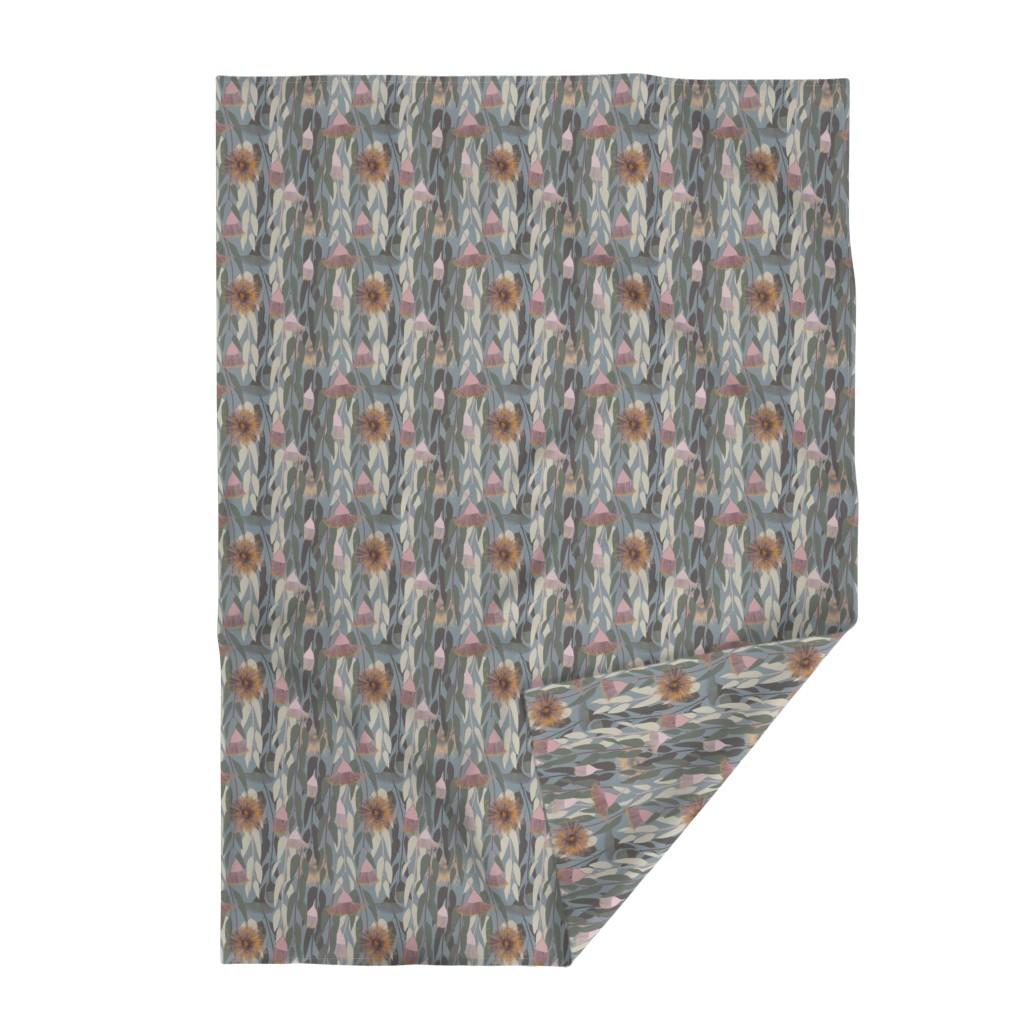 Lakenvelder Throw Blanket featuring Flowering eucalyptus, australian flora by friedlosundstreitsuechtig