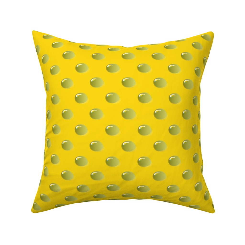 Catalan Throw Pillow featuring Raindrops on Gumboots yellow by colour_angel_by_kv