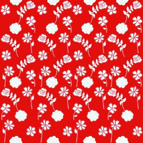 Floral Waves - Red