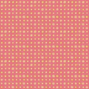 Hand Drawn dot stripe Pink