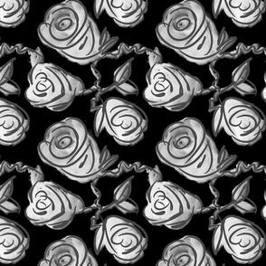 X-ray rose sketchy