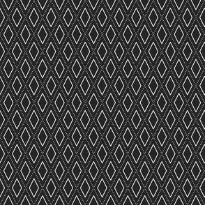 rhombus white on black background