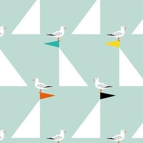 Seagulls and Sails Eau de Nil