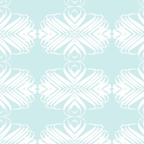 Palm Graphic - blue and white