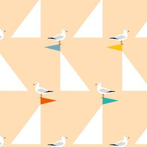 Seagulls and Sails Sand
