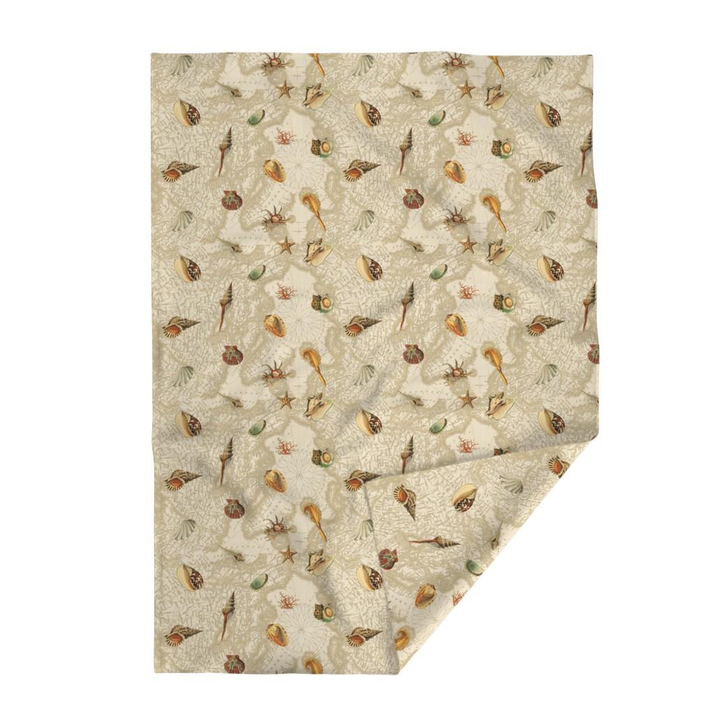 Lakenvelder Throw Blanket featuring Nautical Sea Shells by mypetalpress