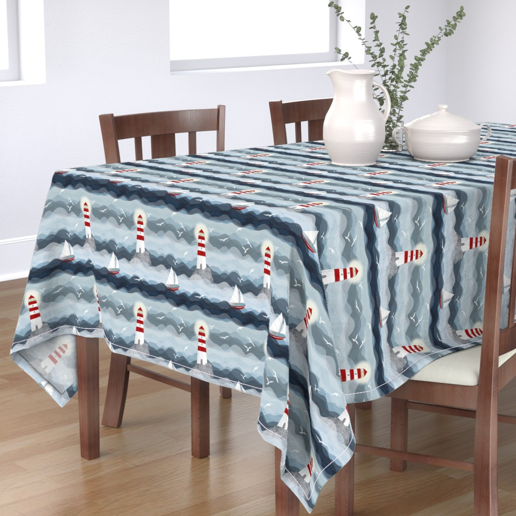 Bantam Rectangular Tablecloth featuring Stormy night by celina_digby