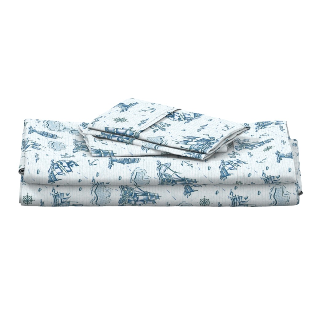 Langshan Full Bed Set featuring Nautical Voyage by lucaswoolleydesigns