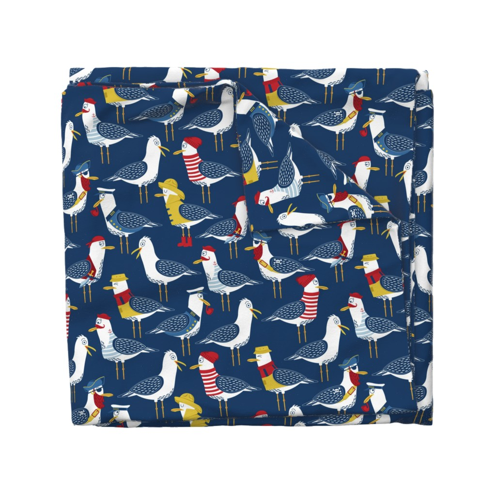 Wyandotte Duvet Cover featuring Seagull Surprise! by nanshizzle