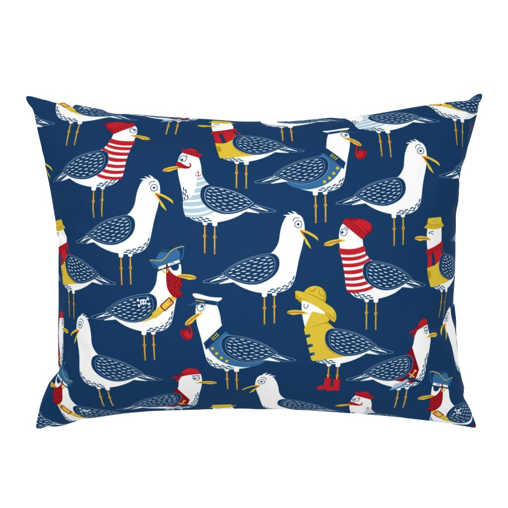 Campine Pillow Sham featuring Seagull Surprise! by nanshizzle