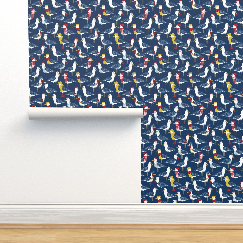 Isobar Durable Wallpaper featuring Seagull Surprise! by nanshizzle