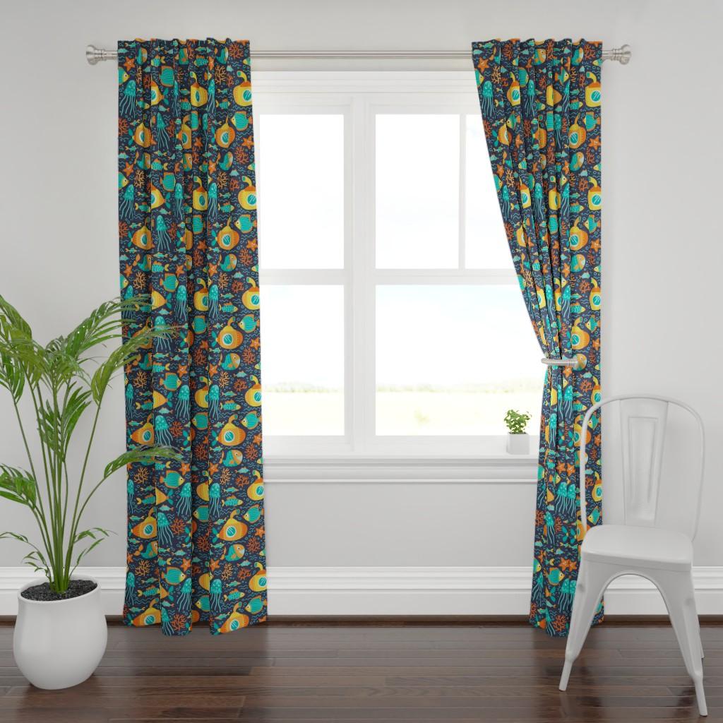 Plymouth Curtain Panel featuring Nautical by tatyana_okhitina