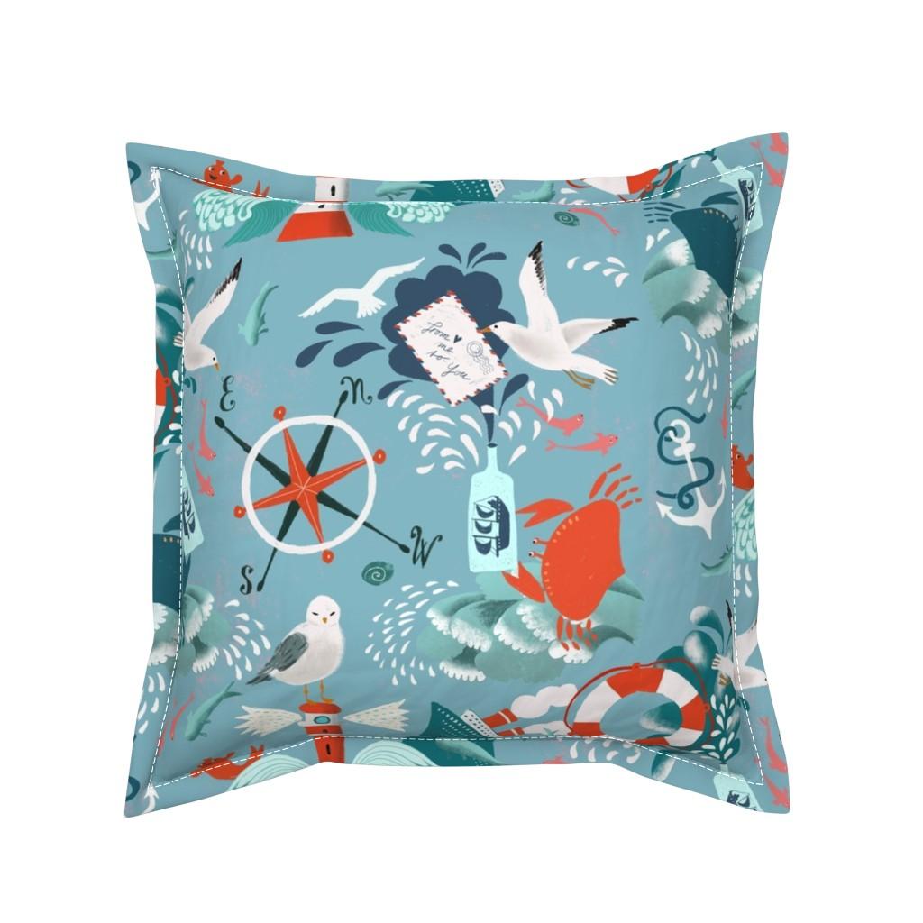 Serama Throw Pillow featuring ocean splash by miraparadies