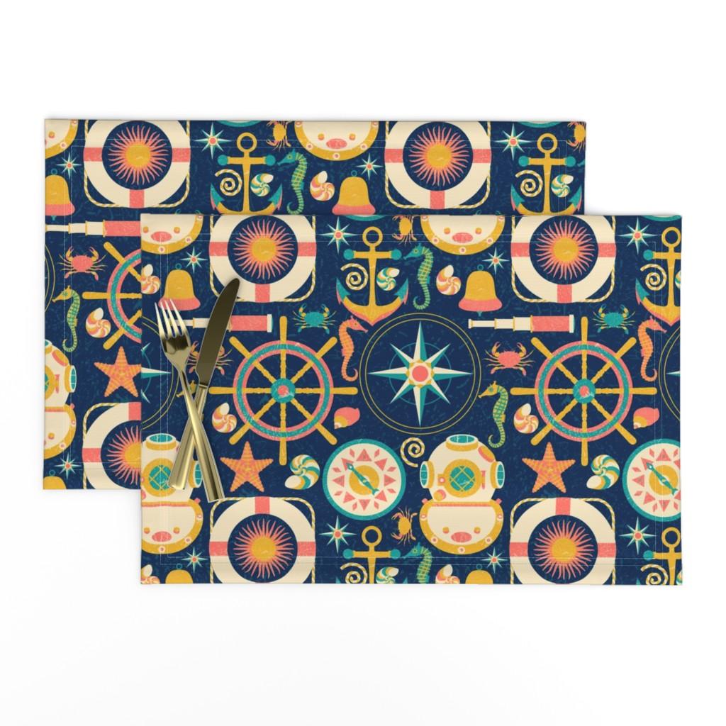 Lamona Cloth Placemats featuring Ahoy! by julia_faranchuk