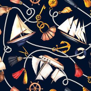 Set Sail! - Navy Blue