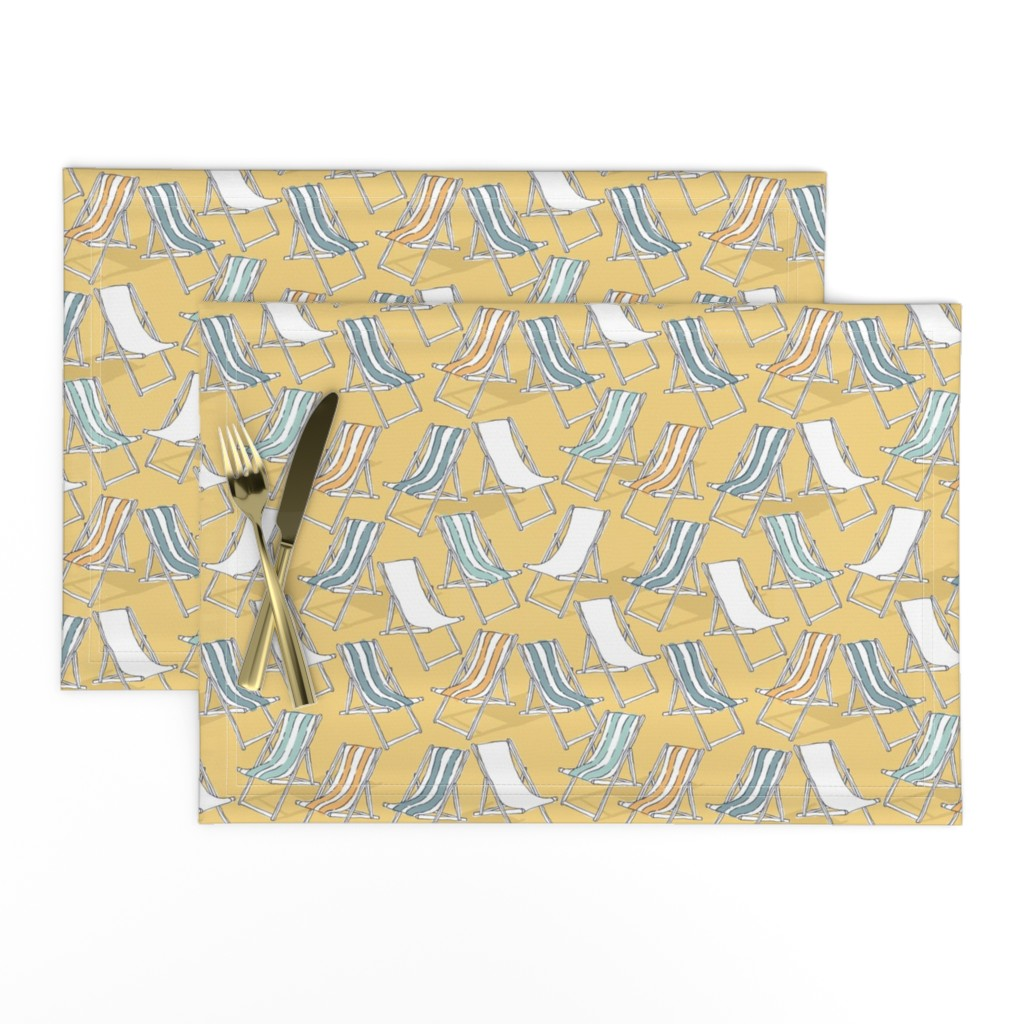 Lamona Cloth Placemats featuring Deck Chairs by mottle&daub