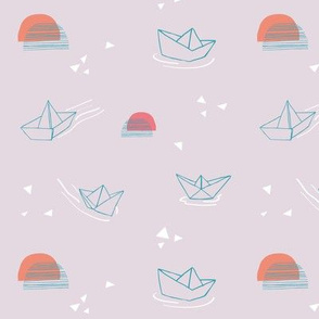 Paper Boats on they float! - Pink small