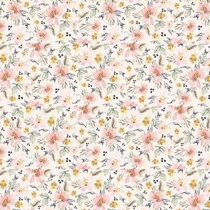 Ditsy floral on bone ecru background