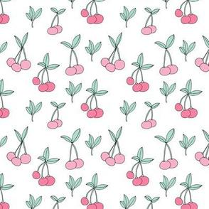 Sweet cherry garden girls summer fruit candy land white pink SMALL