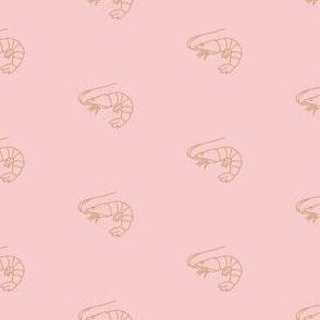 little aussie prawn - blush pink + tan